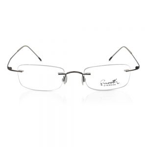 Smooth Eyewear Rimless Optical Frame Dark Brown