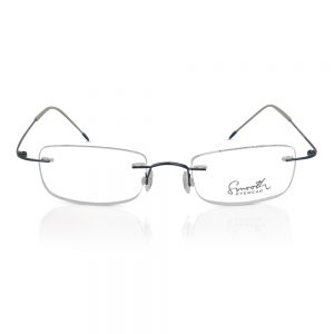 Smooth Eyewear Rimless Optical Frame Deep Blue