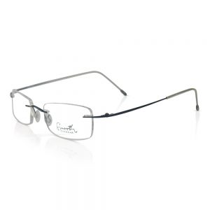 Rimless Smooth Eyewear Optical Frame | Deep Blue
