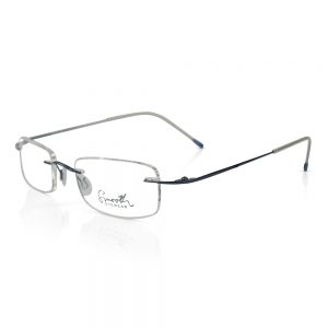 Smooth Eyewear Rimless Optical EyeGlasses Frame Dark Blue