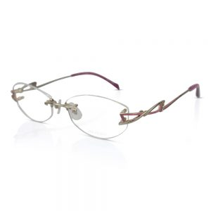 Shiseido Titanium Rimless Optical EyeGlasses Frames #9025