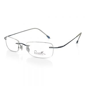 Smooth Rimless Optical EyeGlasses Frames Dark Blue#RU-02