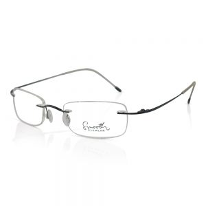 Smooth Eyewear Rimless Optical Frame Black