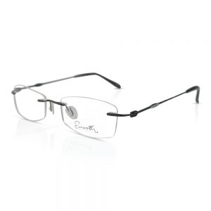 Smooth Rimless Optical EyeGlasses Frames Gun Metal #495