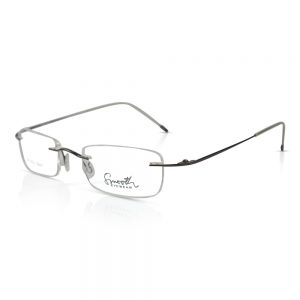 Smooth Rimless Optical EyeGlasses Frames Dark Brown #RU-02