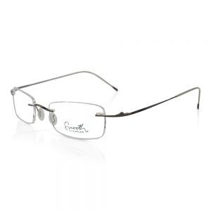 Smooth Rimless Optical EyeGlasses Frame Dark Brown #RU-02