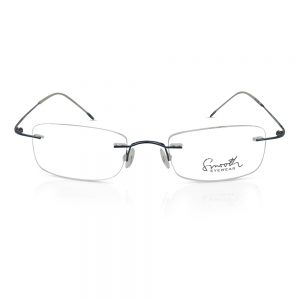 Smooth Rimless Optical EyeGlasses Frame Dark Blue #RU-02