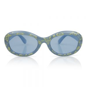 Light Blue with Flowers Kids Sunglasses/Fashion Spectacles