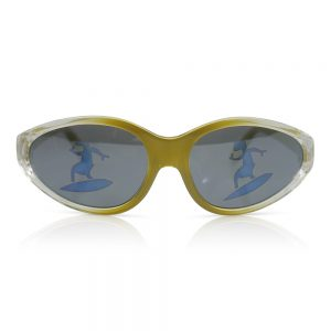 Yellow/Clear with Surfer on Lenses Kids Sunglasses/Fashion Spectacles