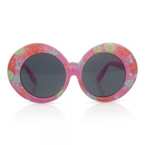 Pink with Flowers Kids Sunglasses/Fashion Spectacles