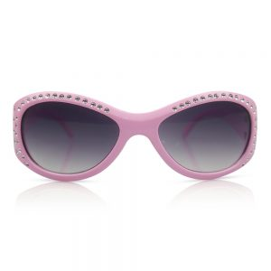 Light Pink with Diamonds Kids Sunglasses/Fashion Spectacles
