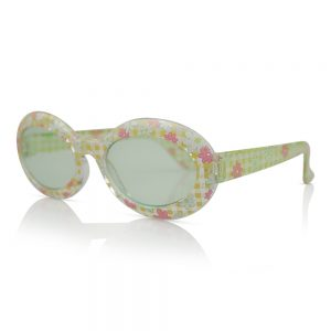 Yellow/Clear with Flowers Kids Sunglasses/Fashion Spectacles