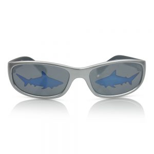 Silver with Blue Sharks Kids Sunglasses/Fashion Spectacles
