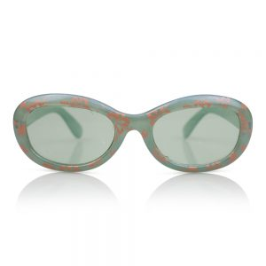Clear/Green with Flowers Kids Sunglasses/Fashion Spectacles